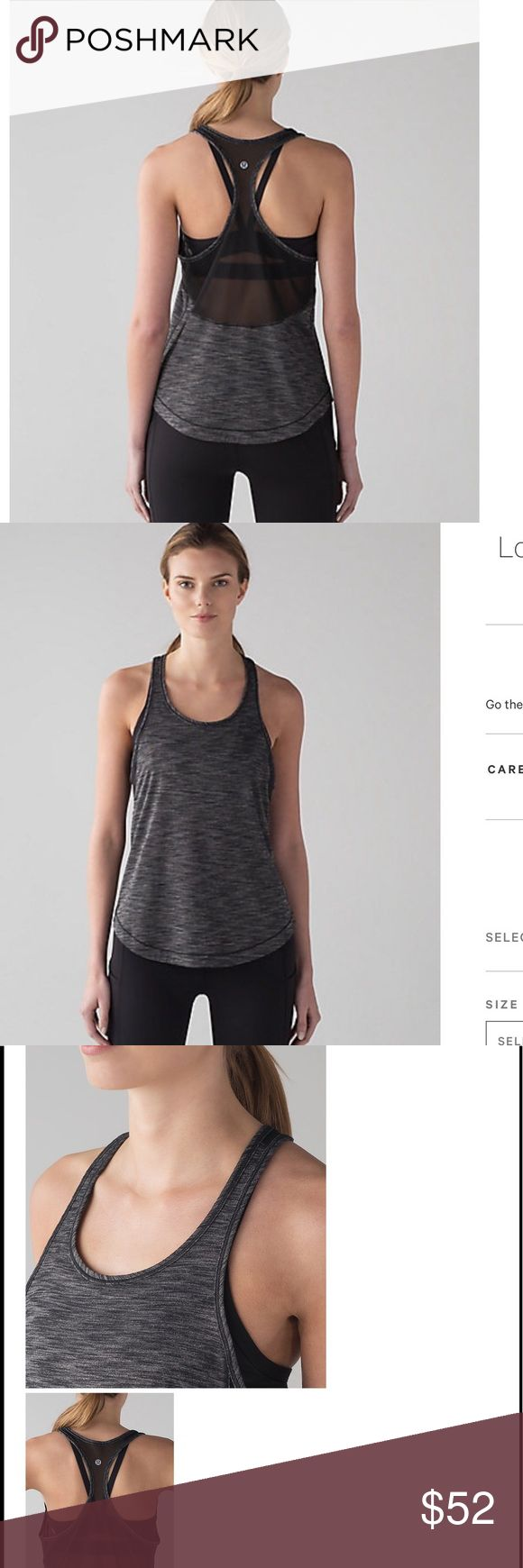 NEW LULULEMON long distance racerback mesh tank Brand new with tags The sweat-wicking, 4way stretch Seriously Light™ Luon fabric makes moving a breeze · seriously lightweight · sweat-wicking · four-way stretch · cottony-soft Pebble Jacquard White Black DESIGNED FOR running  • LYCRA® for stretch & shape retention • Racerback cut for full range of movement • RELAXED FIT, HIP LENGTH Layers easily and gives you room to breathe • SILVERESCENT® TECHNOLOGY Powered by X-STATIC®, inhibits the growth…