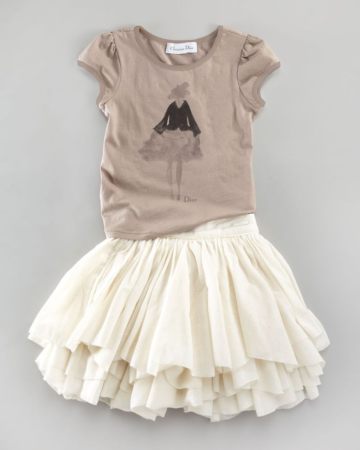 Baby Dior - Dior Tee & Ruffle Layer Skirt