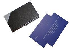 Description :  PU Namecard Case Colour :  Dark Brown   Packaging :  Black Gift Box  Unit Size :  H9 x W6 x B1.2 cm