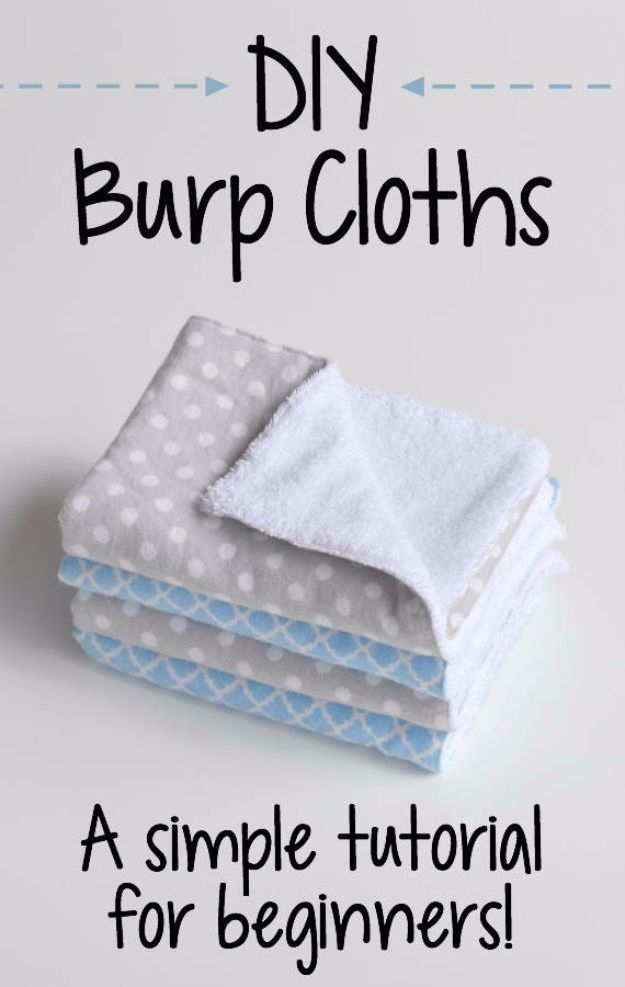 Sewing Crafts To Make and Sell – DIY Burp Cloths – Easy DIY Sewing Ideas To Make…