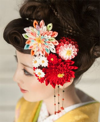 日本髪 結綿 薔薇