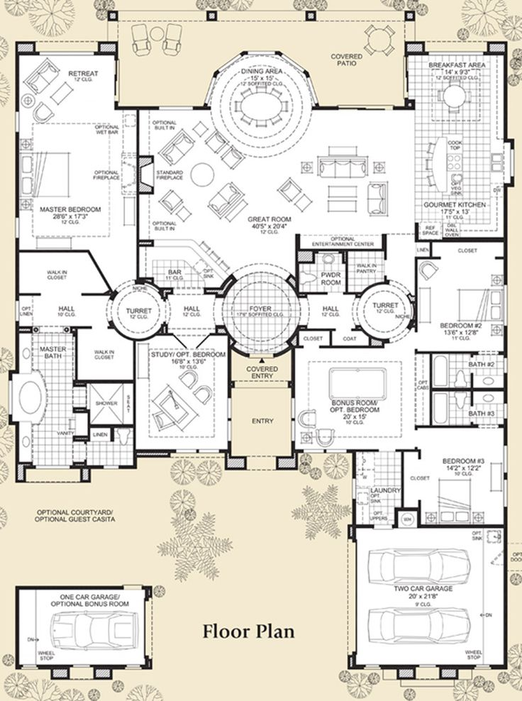 25 best ideas about luxury floor plans on pinterest for One story luxury home floor plans