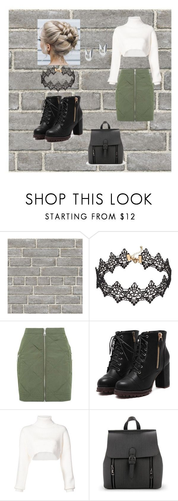 """The Green Skirt"" by jjskye04 ❤ liked on Polyvore featuring Wall Pops!, Topshop, Alexandre Vauthier and Tom Binns"