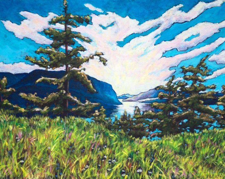 """'Shuswap Lake' 16""""x 20"""" acrylic on canvas"""