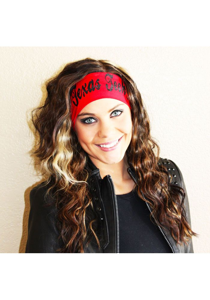 Texas Tech Red Raiders Womens Red Stretch Glitter Headband