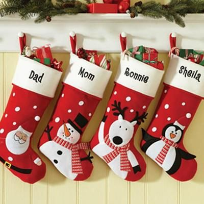 Personalized Felt Character Stockings - Christmas Stockings