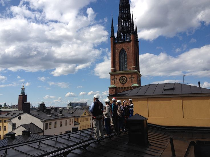 A guided tour on #rooftops in #Stockholm. A unique way to see and learn more about the city. #VisitSweden