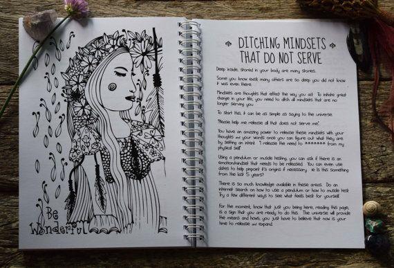 2017 Magic Manifesting Diary for free-flowing by ErthnAustralia Spiritual Planner - Designed & Printed in Australia