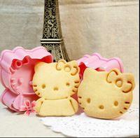 1 satz hallo kitty kawaii schneiden für keks kuchen Cookie stempel schimmel schimmel kochen werkzeug backformen Geburtstagsparty Küche backformen
