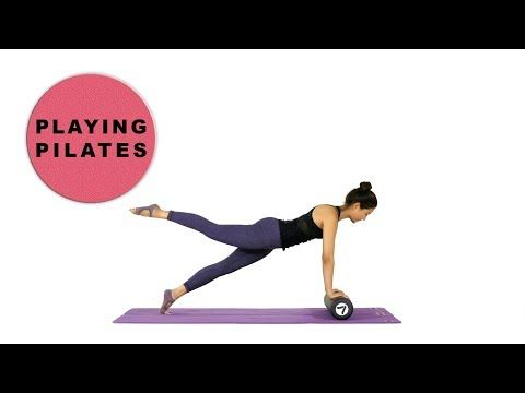 [Playing Pilates]폼롤러 스트레칭과 복근운동 14 min★Form Roller Stretching ABS Workout - YouTube