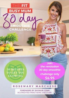 NEW 30 Day Smoothie Challenge for busy mums and even busy families. Super affordable and with a Foreword and FAQs by Dietitian and mum Shivaun Conn http://thefitbusymum.com.au/product-category/ebook/