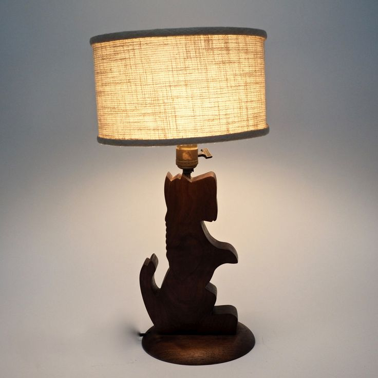 98 best lamps and lamp shades electric and oil images on pinterest vintage wooden scottie dog lamp wood scottie dog lamp with shade by lilieslegacies on etsy aloadofball Images