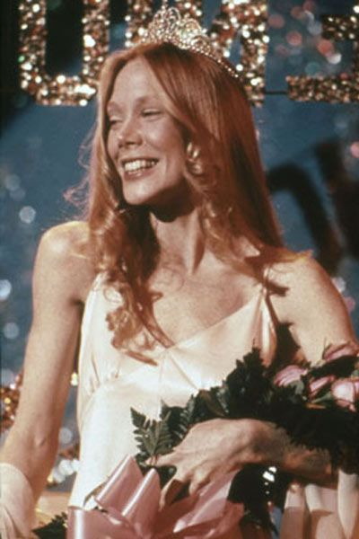 Sissy Spacek - Carrie (1976)  Very torn about the remake attempt, becasue I really love the original but I also want to see Chloe Grace Moretz tackle this role!