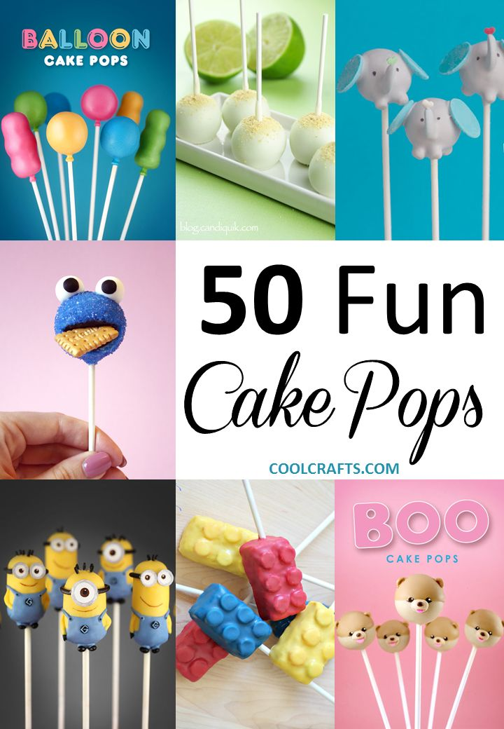 Cake Pops: 50 Fun Recipe Ideas You Can Make in the Kitchen. http://www.coolcrafts.com/cake-pops-recipes/