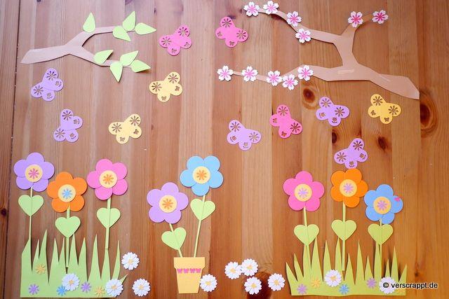 Frühling-Spring-Ostern-Fensterbild-Fensterdeko-Fenster-Dekoration-Pastell-Blumen-Stanzer-einfach-kleben-Cardstock-Papier-Alles