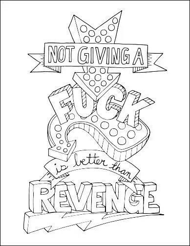 Swear Word Coloring Page