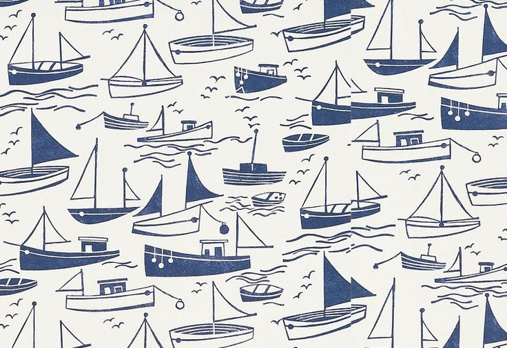 wallpaper, pattern, design, repeat, one colour, boat, sailing, summer, surface pattern, fabric, sea