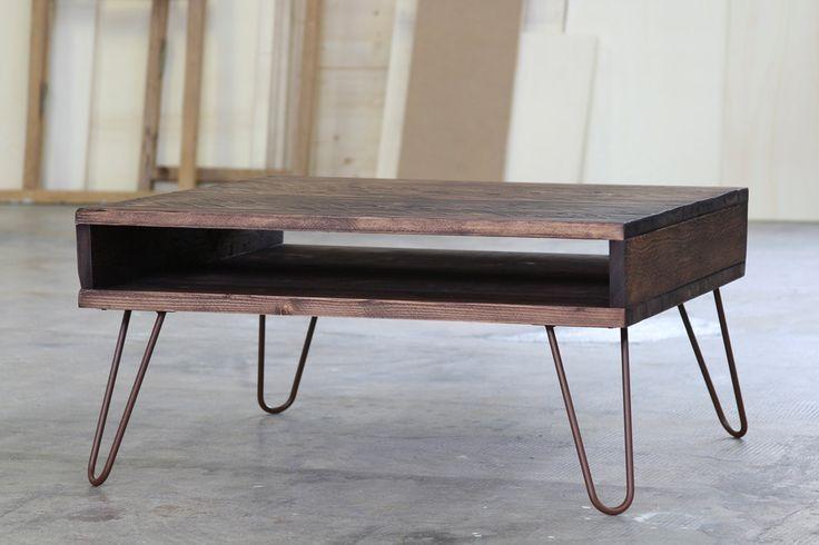tavolino da caffè  60x90cm, tavolo basso personalizzabile, media console, legno massello colore Dark Walnut, piano e gambe personalizzabili di dokke su Etsy