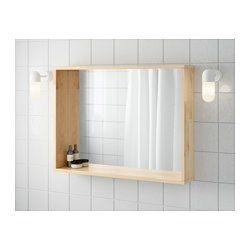 IKEA - MOLGER, Miroir, bouleau, , Peut être utilisé à l'horizontale ou à la verticale.La profondeur du rebord permet de l'utiliser comme tablette où poser un porte-savon et un gobelet à brosses à dents.Le miroir est doté d'une pellicule anti-éclats au dos, ce qui réduit le risque de blessure si le verre se brise.