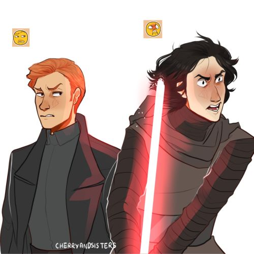 kylux hell : KYLO REN A5 AND GENERAL HUX C5 FOR EMOJI CHALLENGE