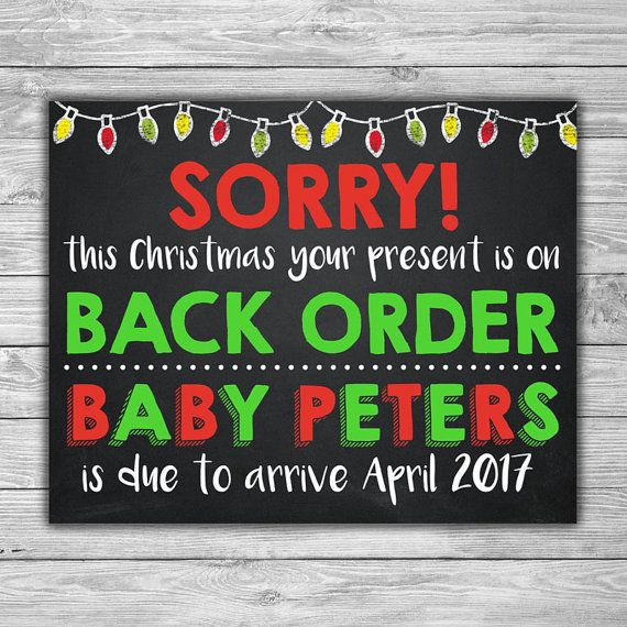 PRINTABLE Pregnancy Announcement Chalkboard Photo by TheDigiSloth