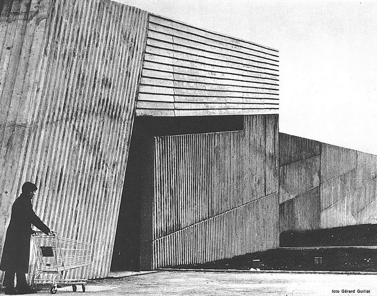""" french supermarkets / gem shopping mall by claude parent domus, dec 73 """