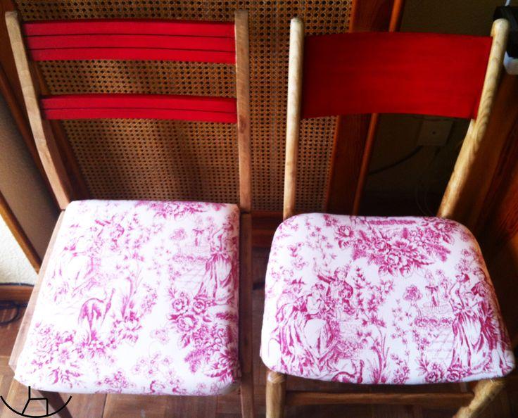 Parece difícil, pero no solo no lo es sino que los resultados pueden ser estupendos!!! Decorar con muebles de color ROJO. Plenamente Vanguardista! #sillas #rojo #recuperado #furniture #muebles #quartodavovo #recycled