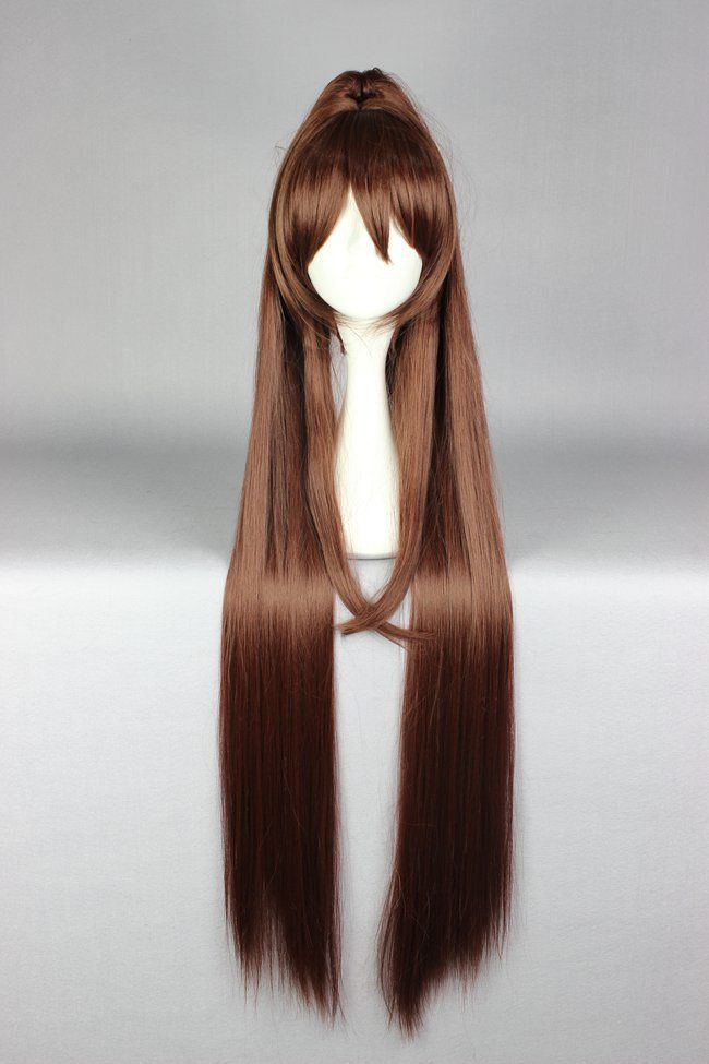 MCOSER Fashion Women 110cm Kantai Collection KanColle-Yamato Long Brown Ponytail Cosplay Party Costume Full Wig