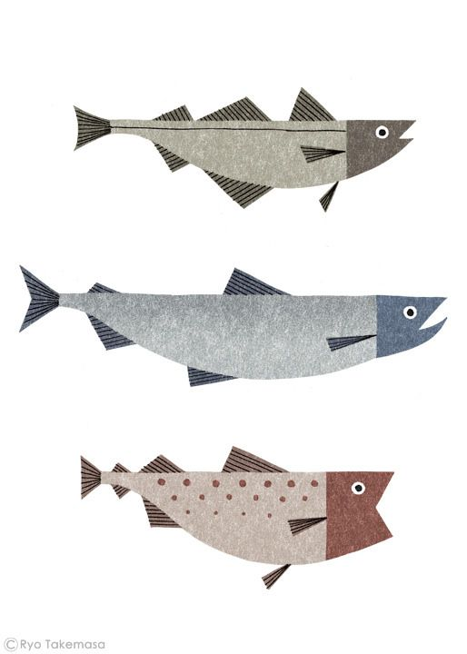 https://flic.kr/p/n3Mqu4 | The Waitrose Way : Fish | Illustration for an advertising campaign.