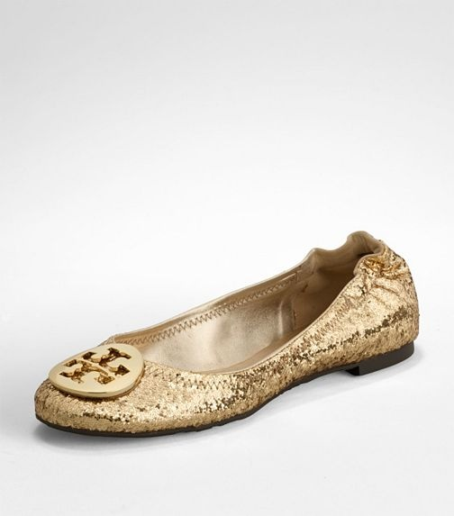 tory burch glitter flats-I thought these were an URBAN SHOE MYTH till i saw  them on someone's feet today!