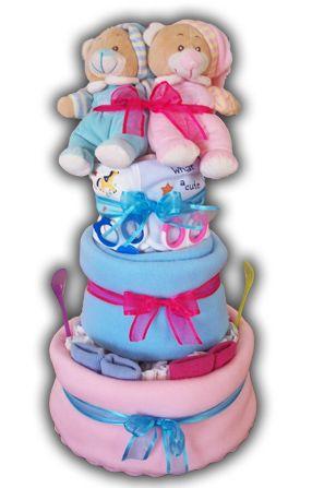 http://thavmataki.gr/eshop/diaper-cakes/twins-diaper-cake.html Τέλειο thavmataki για διδυμάκια! Τιμή 65€