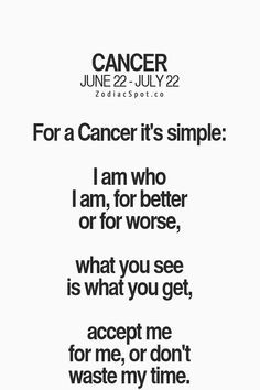 #Cancer ♋ Its Simple