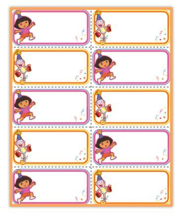 Dora Party Name Tags Nick Jr Parties Elmo Party