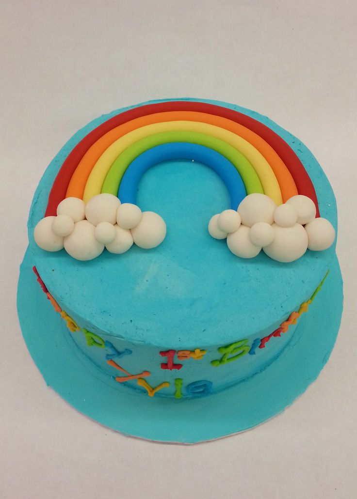 Perfect for Pride or a colourful birthday party - it's our Yummy Rainbow Cake!
