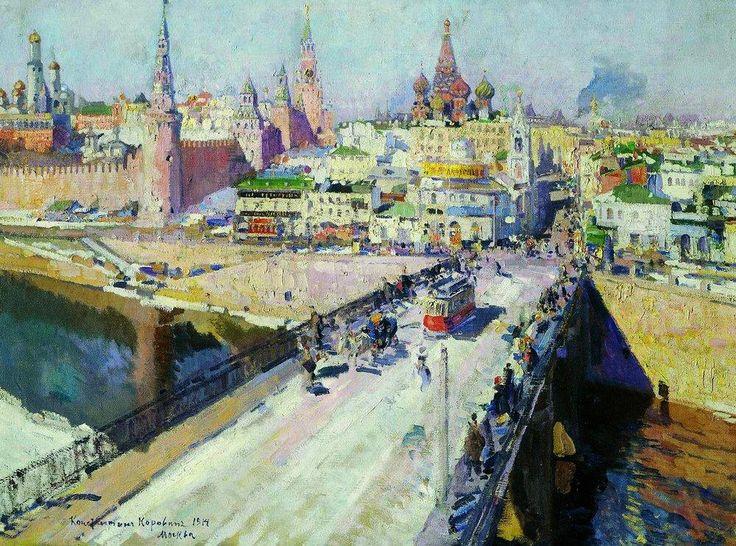 Константин Коровин «Москворецкий мост». Описание картины