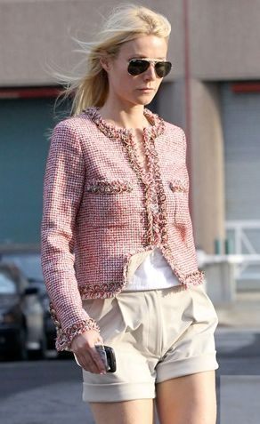 Classic Pink Tweed Chanel Jacket on Gwyneth Paltrow