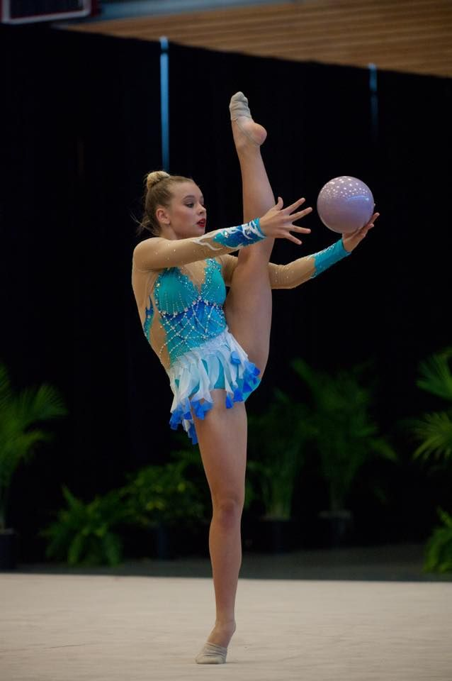 Rhythmic gymnast Grace Schroder at the Pacific Rims Championships held in Washington State, USA.