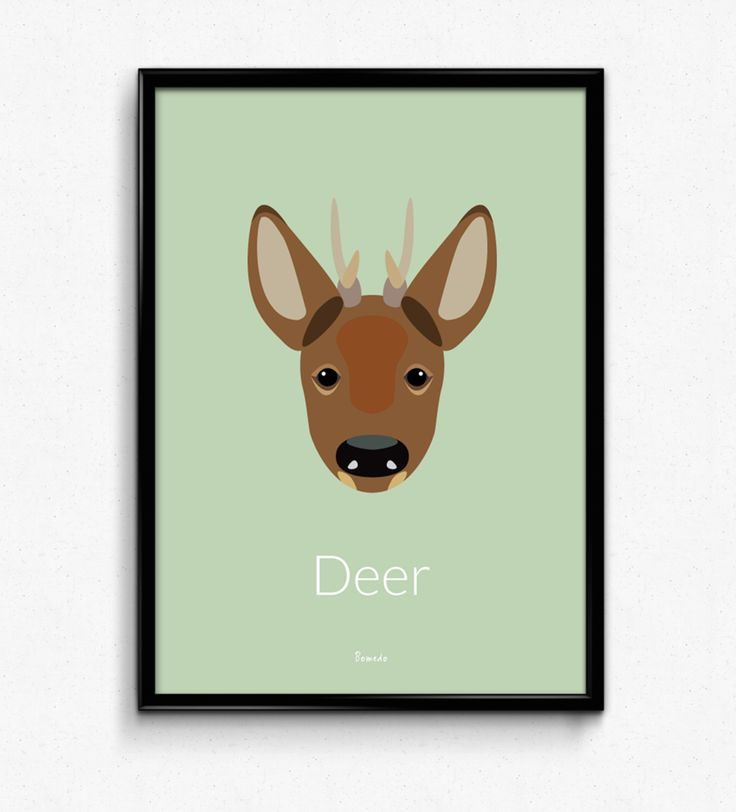 Deer Poster  - Available at www.bomedo.com