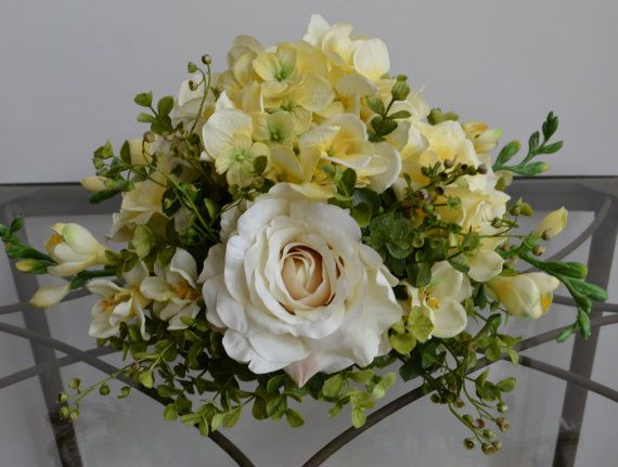 150 best chicago silk florist images on pinterest yellow ivory rose flower centerpiece easter centerpiece wedding floral centerpiece silk flower arrangement spring flowers mightylinksfo