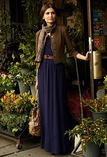 maxi dress. Oh how I wish I was tall enough to wear one.