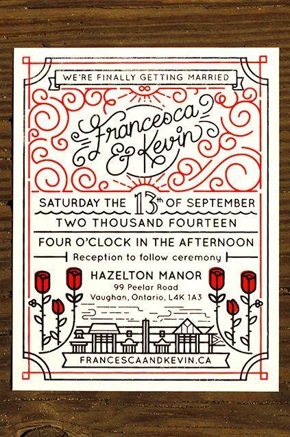 Wedding Invites by Kevin Moran