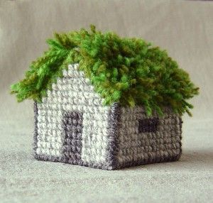 Fäbod cross stitch house needlepoint kit by Helena Ericsson