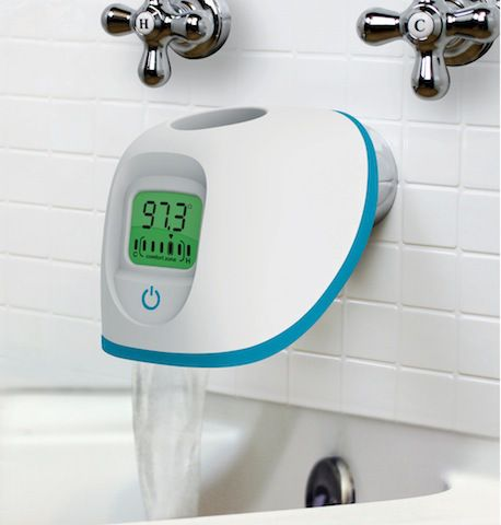 Splish Splash: so cool, this is a spout protector so your baby doesn't bump their head and it gives you the water temp.