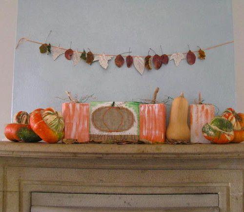 Le zucche di legno e il pannello decorativo di Taba Pintada
