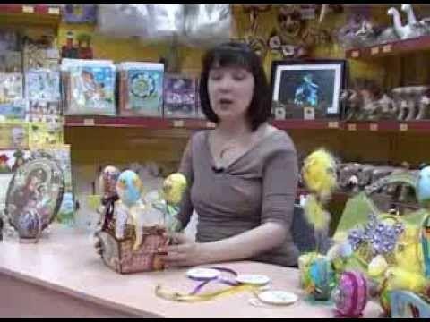 Декупаж пенопластовых заготовок для яиц пасхальными салфеточными мотивами - YouTube