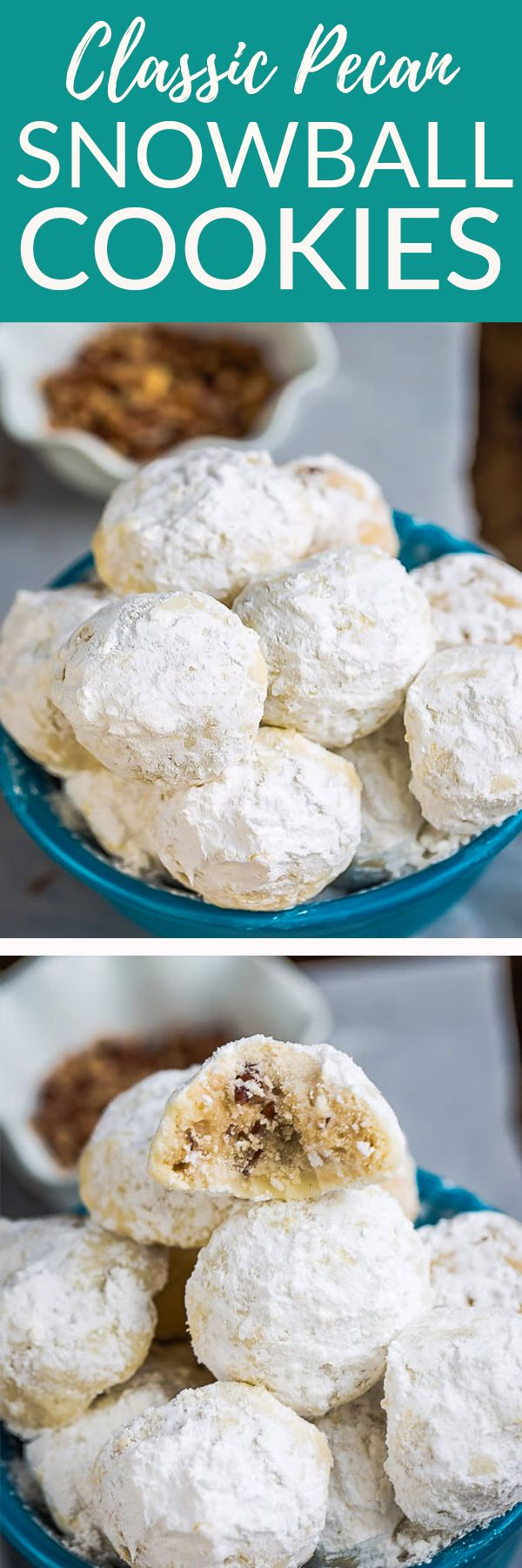Classic Pecan Snowball Cookies | Posted By: DebbieNet.com