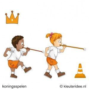 Oranje rietjes race, koningsspelen voor kleuters.   Ander thema van maken en ook leuk voor een kinderfeestje