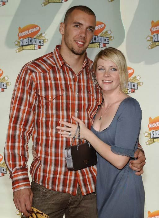 Melissa Hart and husband Mark Wilkerson at the 20th Annual Kids' Choice Awards in March 2007...