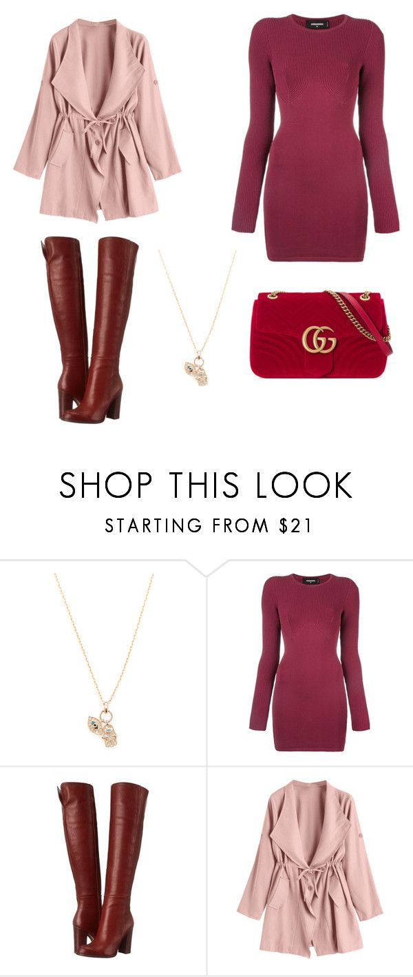 """""""Untitled #250"""" by denysa-boldog on Polyvore featuring Casa Reale, Dsquared2, Sam Edelman and Gucci"""