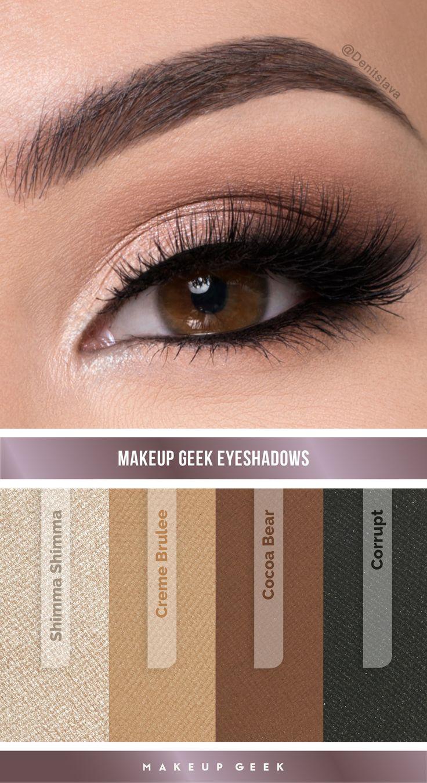 Natural Smokey Eye Look By: Denitslava M Using Makeup Geek Eyeshadows  #makeupgeek #